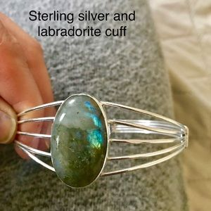 Jewelry - Sterling silver and labradorite cuff bracelet